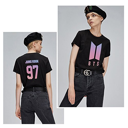 Bianco Nero jung KPOP Estate BTS T V Manica Pop Hip Donna Shirt Young Corta Army Forever T Suga Jimin Jungkook Rap Shirt Nero Shirt RM Camicia qS4dFBwF