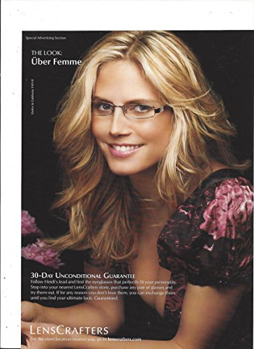 Print Ad With Heidi Klum For Lenscrafters Carefree   Uber Femme Glasses