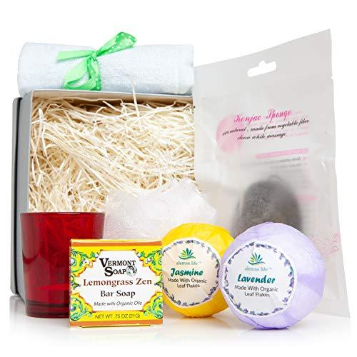 (alemsa life Organic Bath, Body And Beauty Aromatherapy Home Spa Product Gift Box Set)