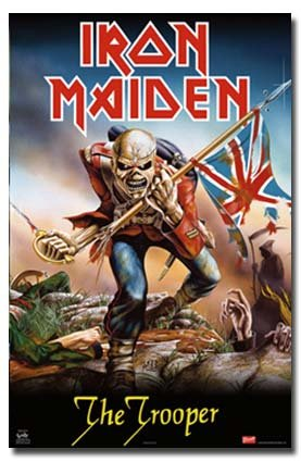 IRON MAIDEN POSTER The Trooper RARE HOT NEW 24X36