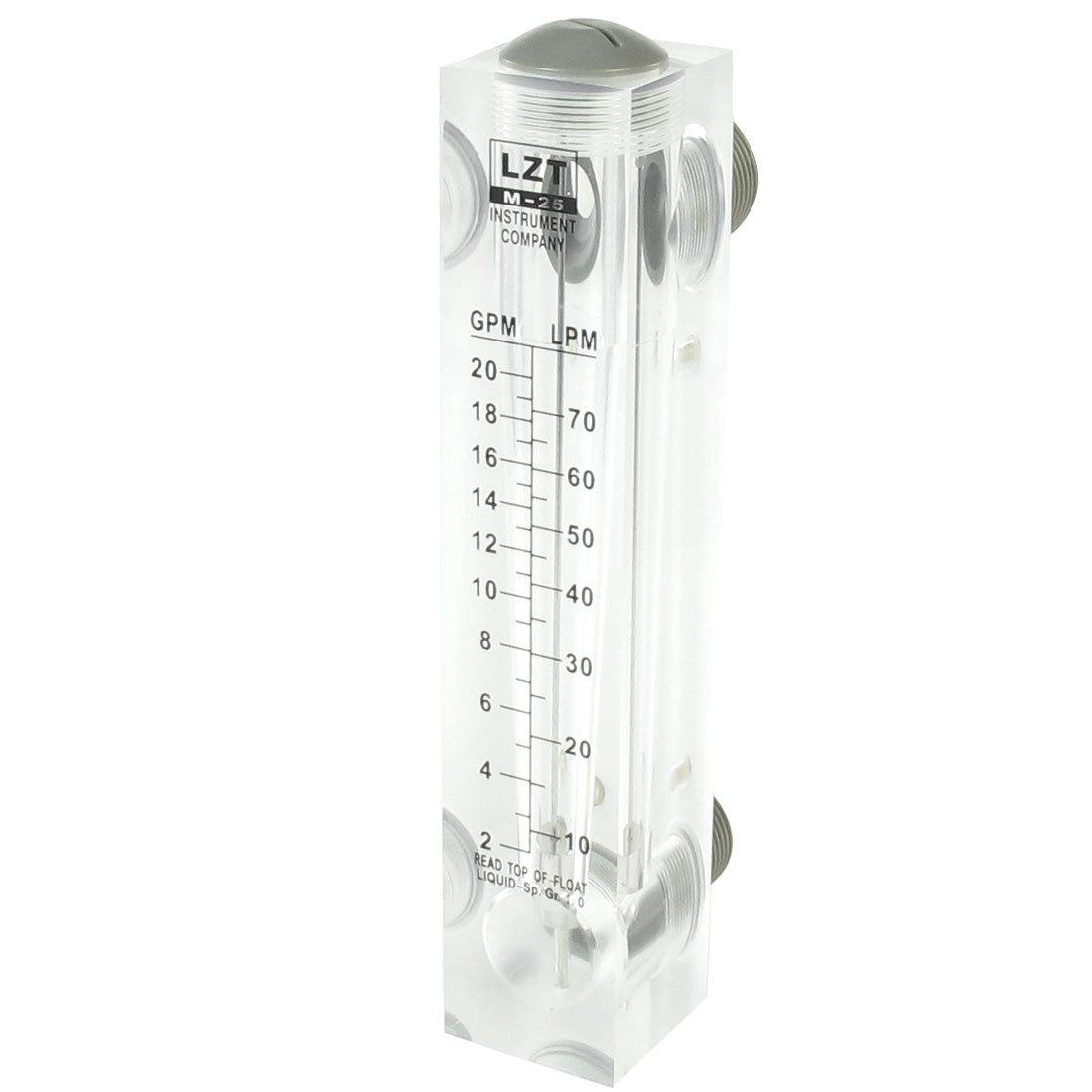 uxcell 1'' PT Thread Input 2-20 GPM Water Liquid Flow Measuring Flowmeter