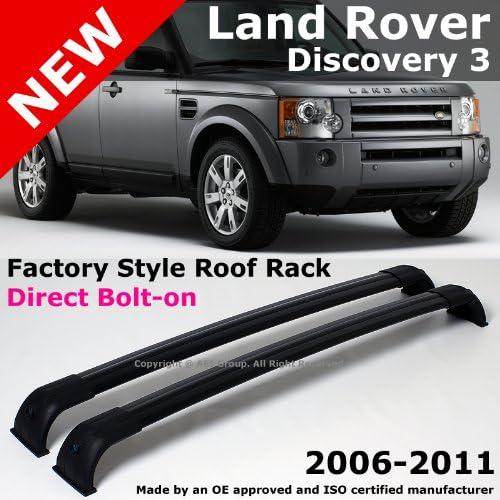 2006 a 2010 Land Rover LR3 Discovery 3 06 – 10 OEM Factory estilo negro barras de techo: Amazon.es: Coche y moto