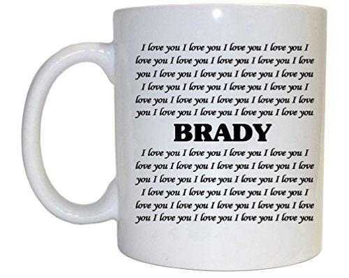 (I Love You Brady Mug)