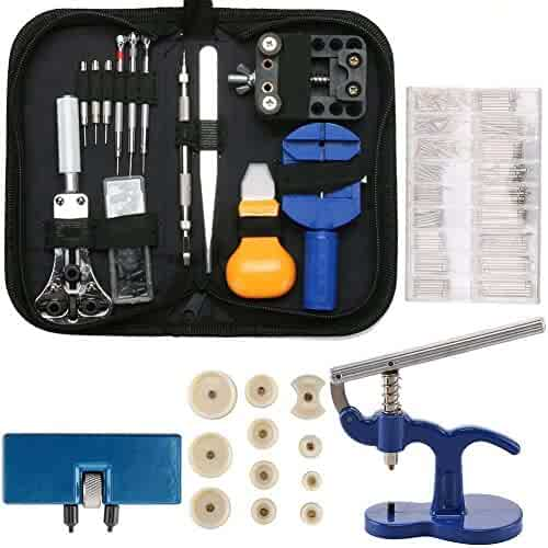 Professional Watch Repair Tool Kit - 499pcs Watch Case Press Battery Replacement Watch Back Case Opener