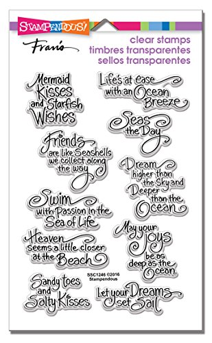 STAMPENDOUS SSC1246 Clear Stamp Set, Ocean Wisdom by STAMPENDOUS