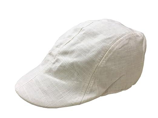 YueLian Sportivo per Gli Uomini di Cotone Cappello Basco (Bianco ... dd9b331faf0b
