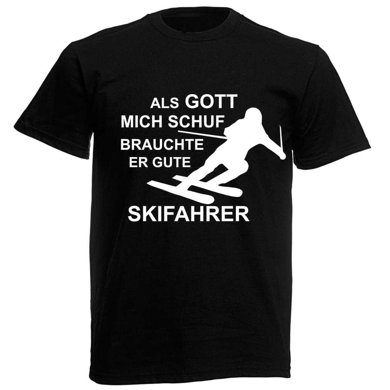 T-Shirt Als Gott mich schuf brauchte er gute Skifahrer