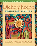 img - for Dicho y Hecho, 7th edition - Student Text with Cassette and Student Access Card for eGrade Plus 2 Term Set book / textbook / text book