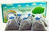 Zziggysgal 6 French Lavender Sachets in a Beautiful Keepsake Box (White)