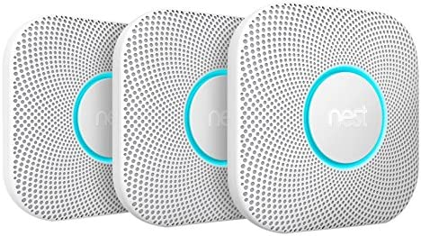 Nest S3006BWDE Protect 2 Generation Smoke and Carbon Monoxide Alarm, White, Pack of 3