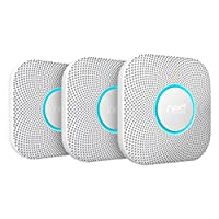 Nest S3006BWDE Protect 2Generation Smoke and Carbon Monoxide Alarm, White, Pack of 3