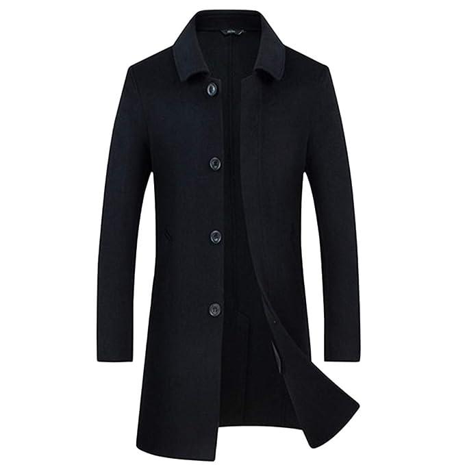 Abrigo de lana y nylon