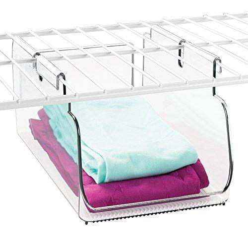 mDesign Shelving Organizer Hanging Storage