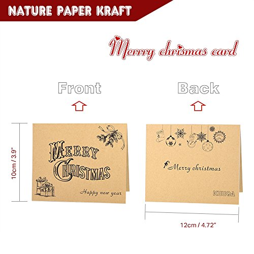 Kuuqa 36 Pieces Merry Christmas Cards Greeting Notes Cards with 36 Envelopes and 36 Stickers Photo #4