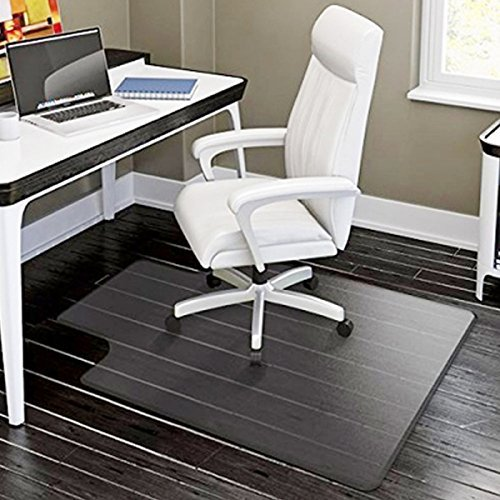 Office Desk Chair Mat for Hard Wood Floor Anti-Slip PVC Matte 48'' x 36''- No BPA Phthalates, Odorless (48''x36''x0.6'') by Bseash
