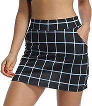 Jessie Kidden Women's Athletic Stretch Skort Skirt with Shorts and Pocket for Running Tennis Golf Wor
