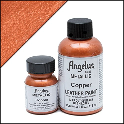 (Angelus Acrylic Leather Paint-4oz.-Copper)