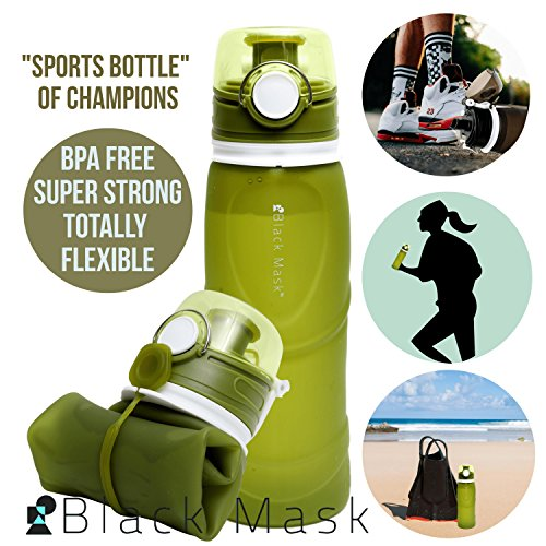 Water Bottles Sports Bottles Made for Outdoors Squeezable Strong Heavy Duty Full Features Tight Lid Leak Proof Flexible Great for Sports Beach (Green, 750 ML - 25 OZ) ()