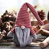 Striped Cap No Face Doll Little Figurine Decoration Nordic Land Old Man Doll Xmas Garden Bedroom Party Decor Indoor Outdoor Celebration Decorations Ornaments Family Party Supplies