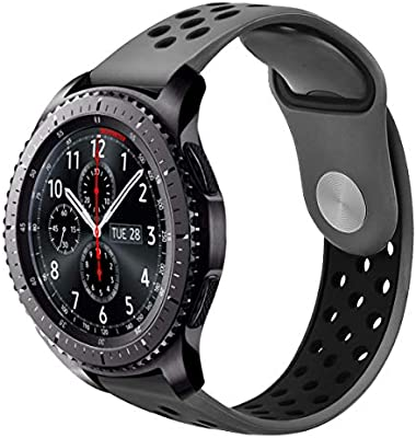 Galaxy Watch 46mm / Gear S3 Classic / S3 Frontier Bands, VIGOSS 22mm Soft Silicone Band Breathable Replacement Strap Wristband for Samsung Gear S3 ...