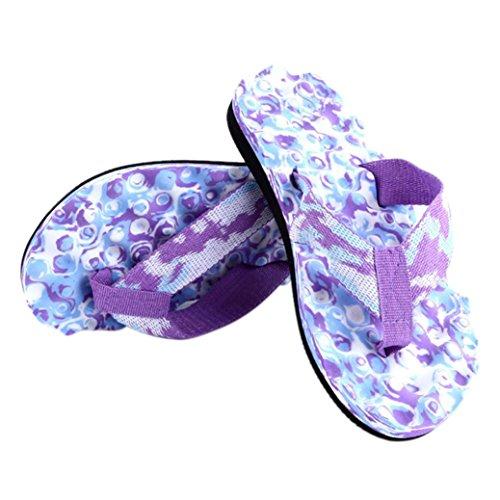 NewKelly Women Summer Flip Flops Shoes Sandals Slipper Indoor & Outdoor Flip-Flops (Purple, 36)