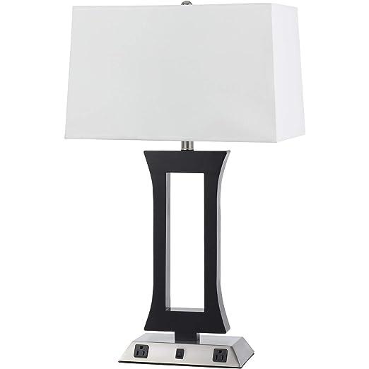 Amazon.com: Lámpara de mesa 1 lámpara de luz con acero ...