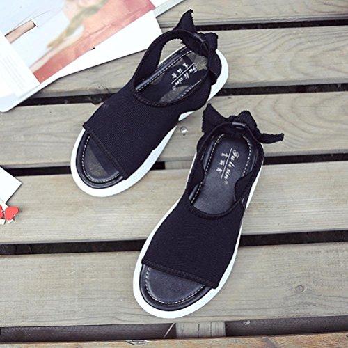 for Summer Outdoor Pantshoes Heel Size Lolittas Roman Open Wedge Toe Slingback Platform Sandals Black Peep Women Fit Low Gladiator Wide 2 Ladies 7 qpTwTdI