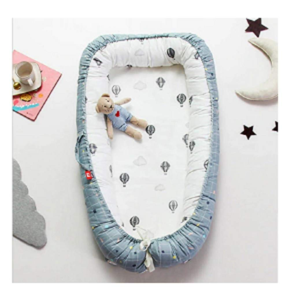 Baby Nest Bed Travel Crib Baby Bed Infant CO Sleeping Cotton Cradle Portable Snuggle 9055cm Newborn Baby Bassinet BB Artifact - Hot Air Balloon by Hwealth
