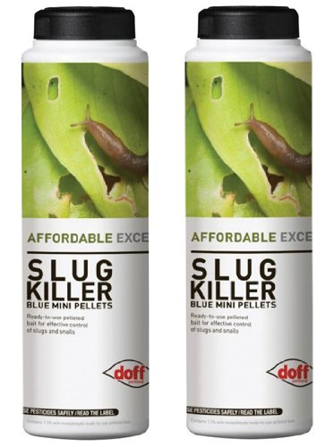 DOFF GARDEN SLUG SNAIL KILLER BLUE MINI PELLETS PESTICIDE. 2 x 700g CONTAINERS