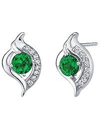 1.75 Carats Amethyst Princess Cut Earrings in Sterling Silver