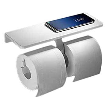 DE Edelstahl Toilettenpapierhalter Klopapierhalter Klorollenhalter WC Bad neu