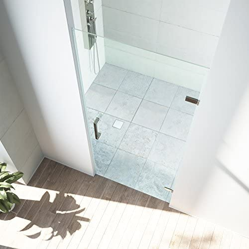 VIGO SoHo 28 to 28.5-in. Adjustable Frameless Shower Door with .3125-in. Clear Glass and Stainless Steel Hardware