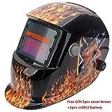Z ZTDM Welding Helmets Pro Solar Auto Darkening Flame Sexy...