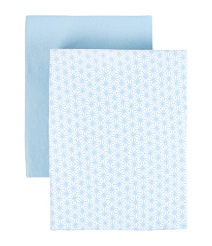 (Tadpoles Set of 2 Starburst Crib Fitted Sheets, Blue, 0-6 Months)