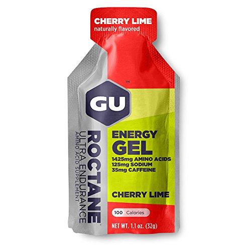 GU Energy Roctane Ultra Endurance Energy Gel, Cherry Lime, 24-Count