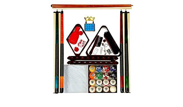 Mesa de billar Kit de accesorios w Classic estilo bolas de mármol ...