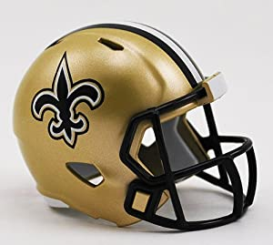 NEW ORLEANS SAINTS NFL Riddell Speed POCKET PRO MICRO / POCKET-SIZE / MINI Football Helmet