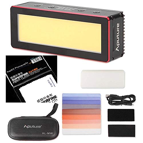 Aputure Amaran AL-MW 10W Waterproof Mini LED LightIP68 10M Built-in Lithium Battery 5500K CRI >95 Daylight with 6 Gels