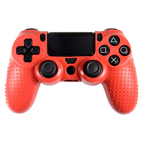eXtremeRate-Studded-Silicone-Controller-Cover-Skins-Protecter-Faceplates-Kits-for-Video-Games-Sony-PS4-Playstation-4