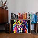 BFY Modern Huge Wall Art Oil Painting On Canvas Colorful Lion Unframed Room Decor