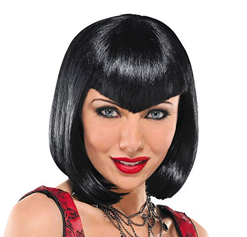 Va Va Vampiress Short Wig Halloween Costume Accessories, Black, One Size, by Amscan -