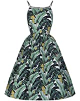 Lindy Bop - Robe - Patineuse - Femme Vert Vert 34-54