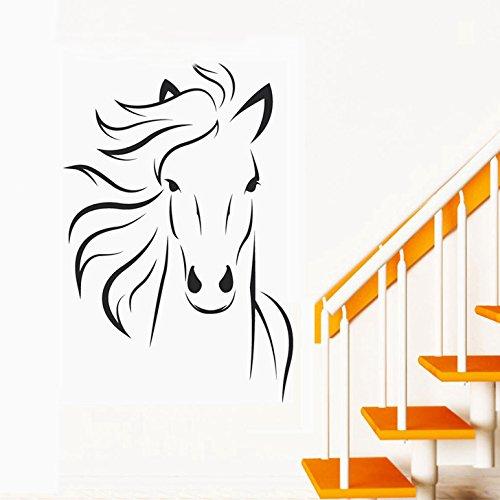 Decals Design 'Horse Sketch' Wall Sticker (PVC Vinyl, 70 cm x 50 cm)