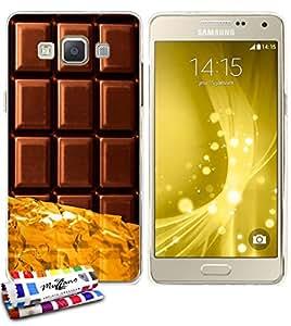 Carcasa Flexible Ultra-Slim SAMSUNG GALAXY A5 de exclusivo motivo [Chocolate] [Transparente] de MUZZANO  + ESTILETE y PAÑO MUZZANO REGALADOS - La Protección Antigolpes ULTIMA, ELEGANTE Y DURADERA para su SAMSUNG GALAXY A5