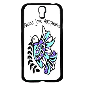 lintao diy Teal and Purple Peace Love Happiness Tribal Dove Hard Snap on Phone Case (Galaxy s4 IV)