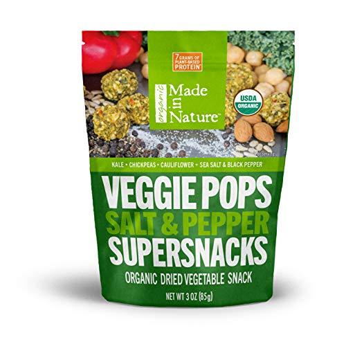 Made in Nature Organic Veggie Pops - Salt & Pepper 3oz (Pack of 6) - Non-GMO Vegan Veggie Snack