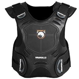 Fieldsheer Armadillo Adult Vest Protector Street Motorcycle Body Armor - Black / 2X-Large