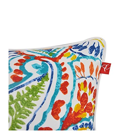 "Pcinfuns Set of 2 Patio Indoor/Outdoor All Weather Decorative Throw Pillow Cover Cushion Case for Replacement 18"" x 18""-Phoenix - 100% Spun Polyester. Package includes:2 pcs 18 x 18 inches square toss pillow covers, insert NOT included. Zipper closure easy for pillow covers replacement. - patio, outdoor-throw-pillows, outdoor-decor - 51XJPKCc%2B0L. SS570  -"