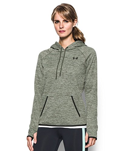 Under Armour Women's Storm Armour Fleece Icon Twist Hoodie, Downtown Green/Black, Small