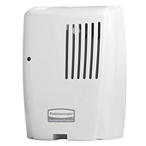 Rubbermaid Commercial Products 1793544 TCell Automated Odor-Controlling Aerosol Air Care System, with Fan, White